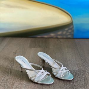 """Silver Strappy """"Call It Spring"""" Sandals"""